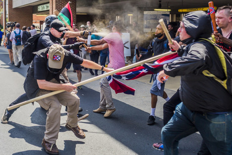 One Dead After Car Plows Into Counter-Protesters At White Supremacist Rally in VA.