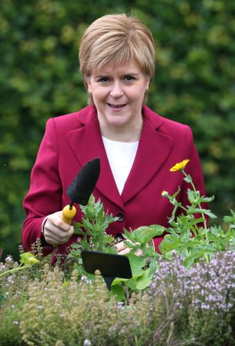 Nicola Sturgeon visit to Royal Botanic Garden Edinburgh