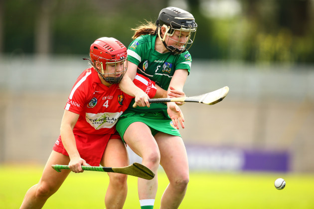 Libby Coppinger tackles Caoimhe Costelloe