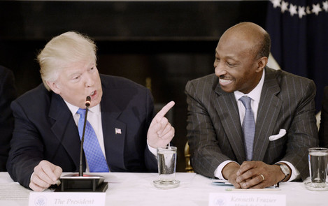 Trump Leads a Listening Session with Manufacturing CEOs