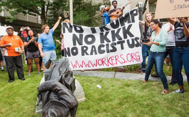 Protestors Topple Confederate Statue In Durham