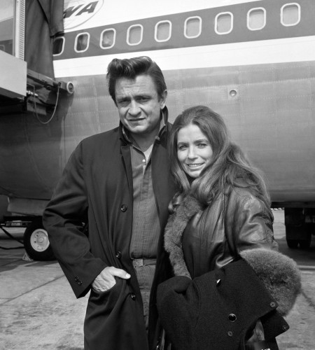 Johnny Cash and June Carter - Heathrow Airport - London