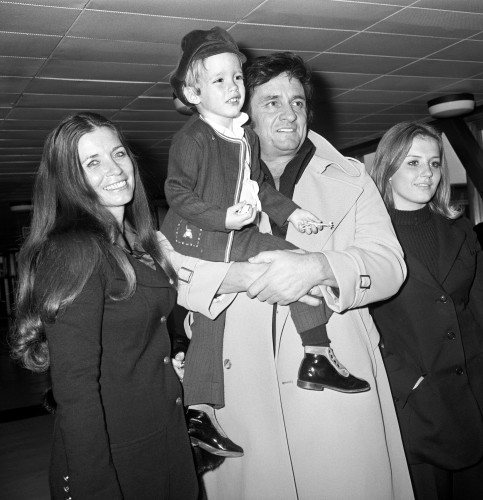 Johnny Cash and family - London Airport - 1972