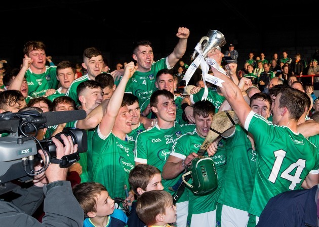 Limerick celebrate after the game