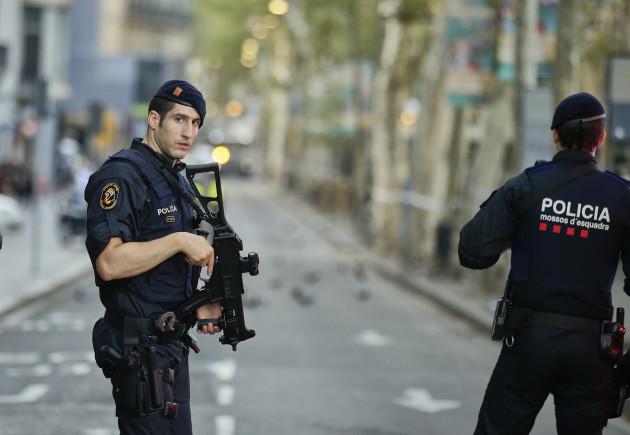Spain Barcelona Pedestrians Hit