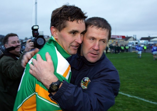 Maurice Fitzgerald is congratulated by Jack O'Connor after the game