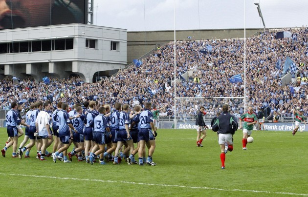 General view of the Dublin players