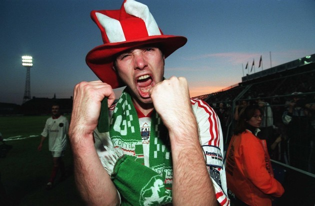 Derek Coughlan after winning the FAI Cup in 1998 23/2/2010