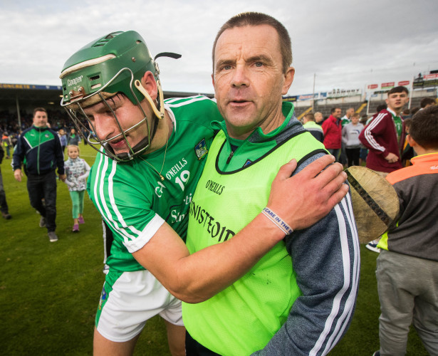 Pat Donnelly celebrates with Andrew La Touche Cosgrave