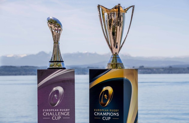 The Challenge and Champions Cups on the shore of Lake Neuchatel