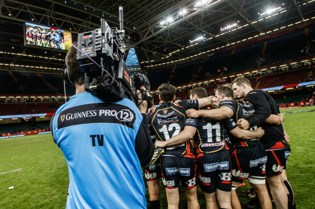 A view of Guinness PRO12 branding