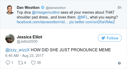 People are losing it because Gemma Collins pronounced the word