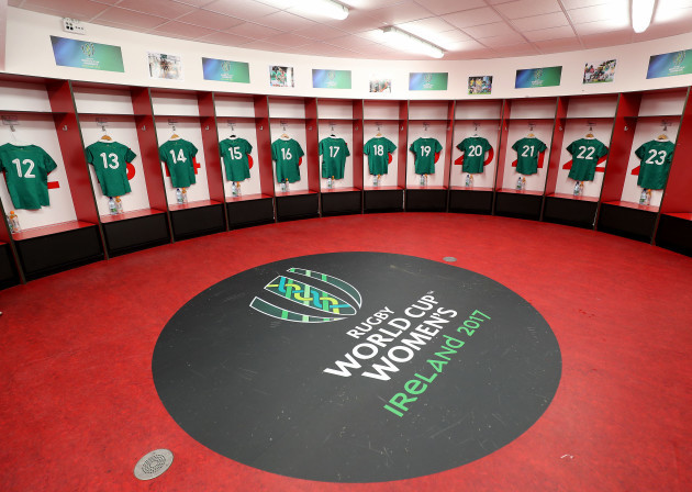 A view of the Ireland jerseys ahead of the game