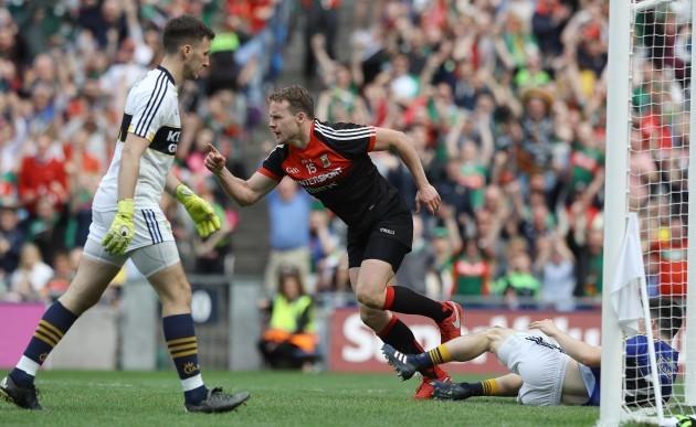 Mayo's Andy Moran celebrates after scoring a goal