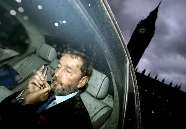 David Blunkett leaving the House of Commons