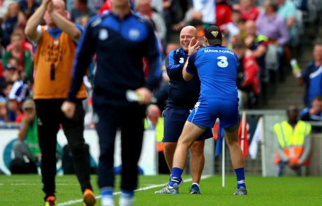 Derek McGrath celebrates with selector Dan Shanahan
