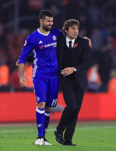 Diego Costa and Antonio Conte file photo