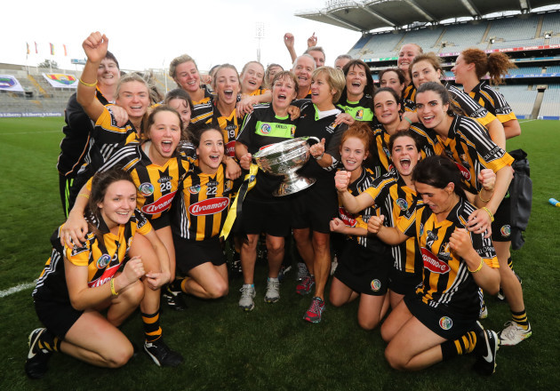 Kilkenny team celebrate after the game