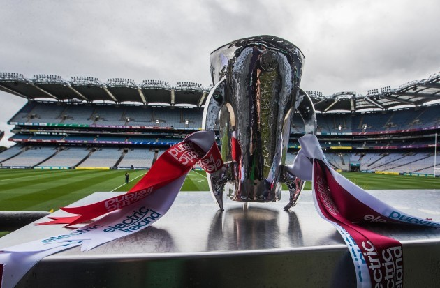 A view of the All-Ireland Minor Hurling Championship trophy