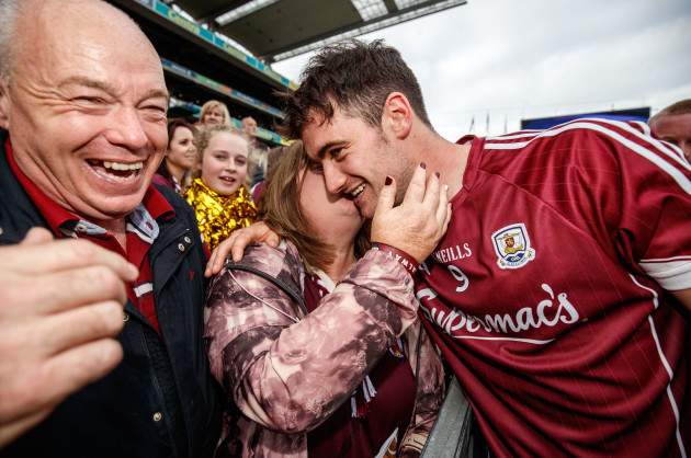 David Burke celebrates with his mother Paula