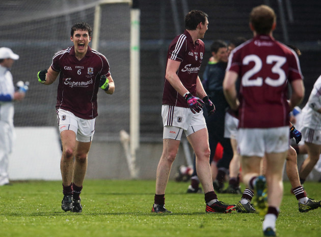 Daithi Burke celebrates after the final whistle