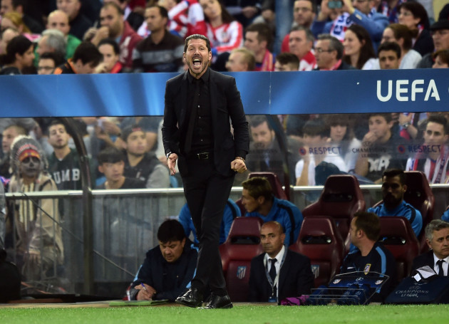 Soccer - UEFA Champions League - Quarter Final - First Leg - Atletico Madrid v Real Madrid - Vicente Calderon
