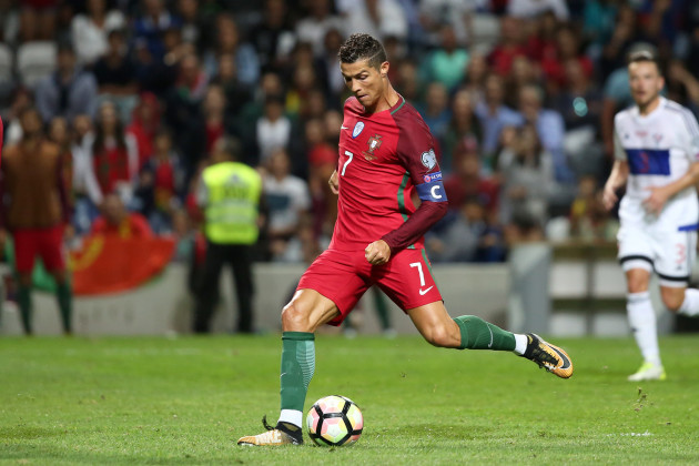 2018 FIFA World Cup qualifying football match Portugal vs Faroe Islands