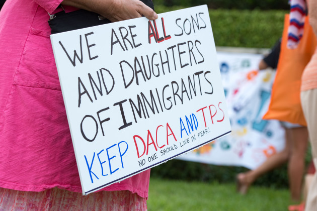 DACA and TPS Vigil at Trump Plaza in West Palm Beach
