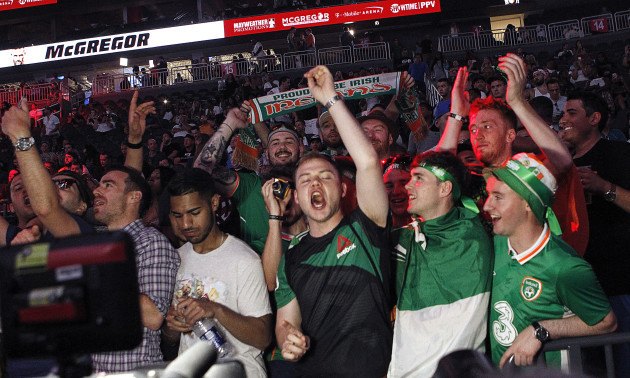 Fans at the weigh-in