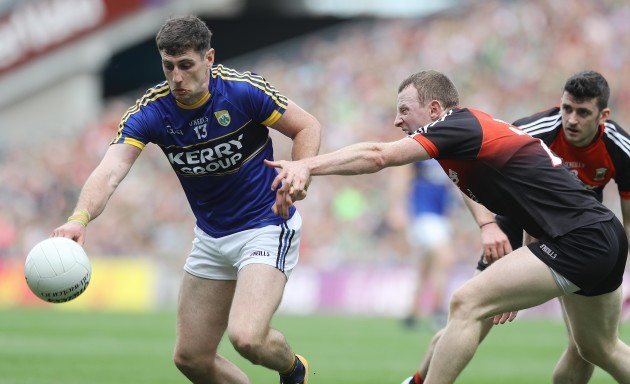 Colm Boyle tackles Paul Geaney