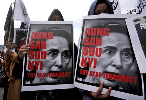 Indonesia Myanmar Protest