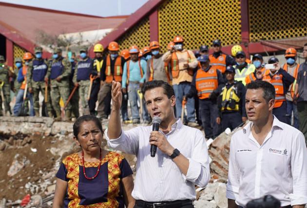 MEXICO-OAXACA-EARTHQUAKE-PRESIDENT