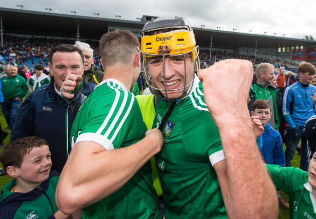 Barry Murphy and Thomas Grimes celebrate