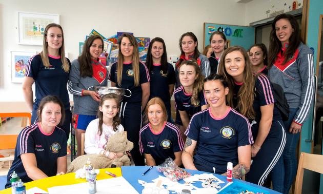 The Cork team with Mia Carroll