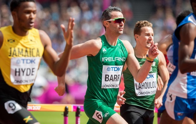 Thomas Barr on his way to finishing fifth