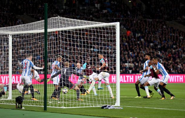 West Ham United v Huddersfield Town - Premier League - London Stadium