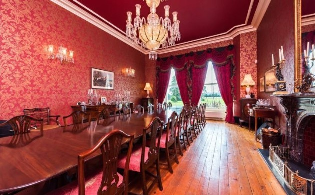 This 19th century castle sits on 250 acres with its own
