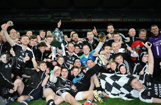 Ardfert players celebrate with the cup