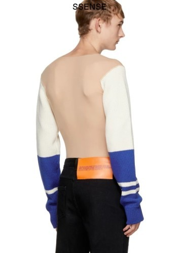 ajatuksia uusi kokoelma hyvännäköinen People have just discovered Calvin Klein's 'naked sweater ...
