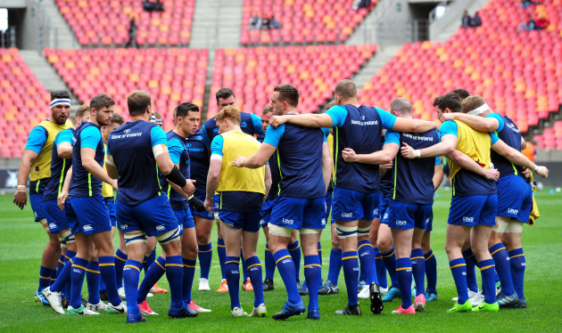 The Leinster team ahead of the game