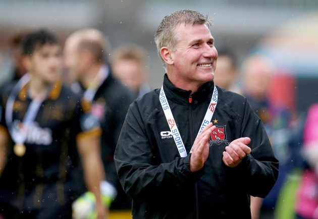 Stephen Kenny celebrates after the game 16/9/2017