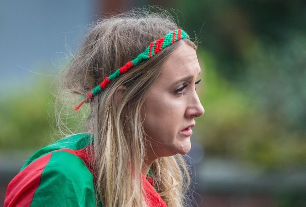 A Mayo fan dejected after the game