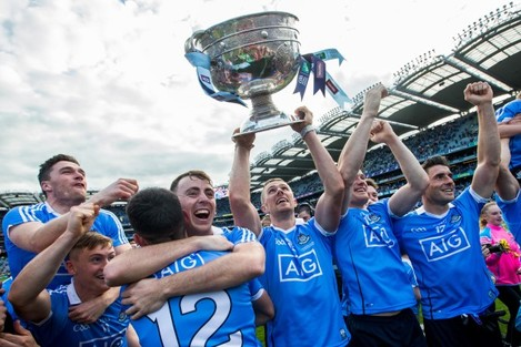 Dublin celebrate after the game