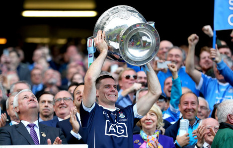 Stephen Cluxton lifts the Sam Maguire Cup