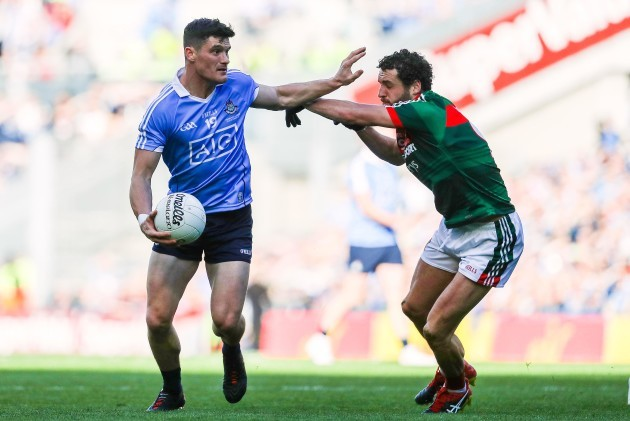 Diarmuid Connolly with Tom Parsons
