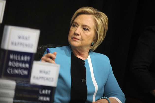 Hillary Clinton Signs Copies Of 'What Happened' In New York