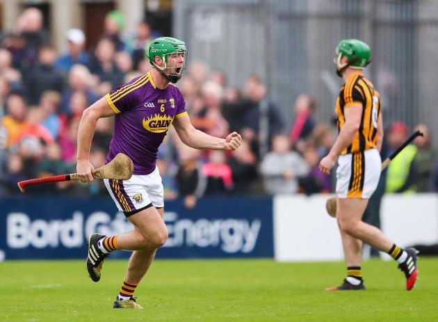 Matthew O'Hanlon celebrates a score