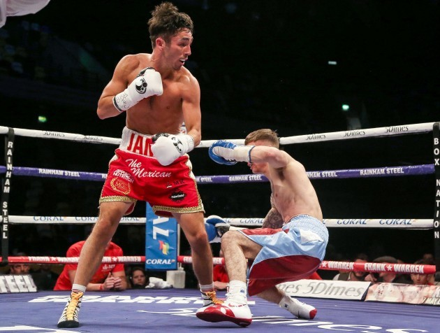 Jamie Conlan in action against Anthony Nelson