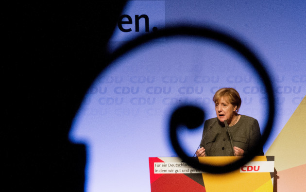 Election campaign CDU in Hamburg with German Chancellor Merkel