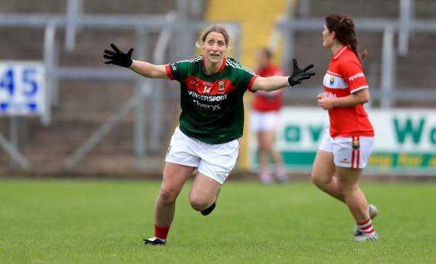 Cora Staunton celebrates at the end of the game